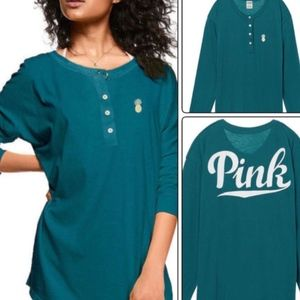 Victoria's Secret PINK Long Sleeve Campus Henley